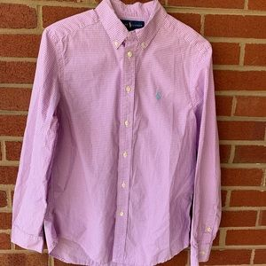 Ralph Lauren Polo Button Down plaid top large